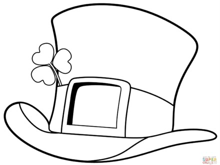 440x330 saint patrick day coloring pages, st patrick day top hat