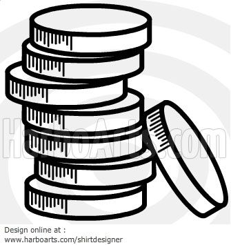 how to draw a stack of money