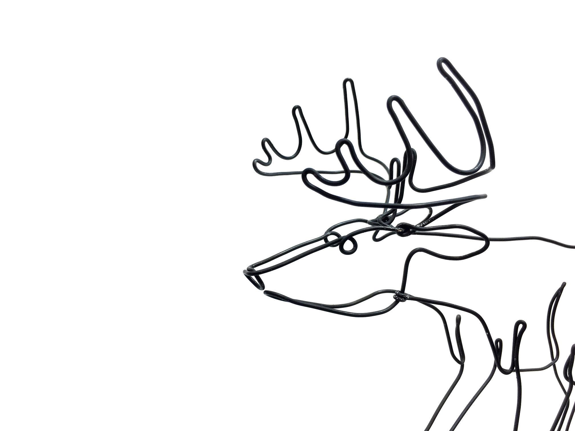 2016x1512 deer art buck wire sculpture minimal art stag wire art etsy