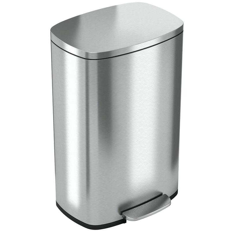 800x800 Step Can Soft Stainless Steel Gallon On Trash Reviews