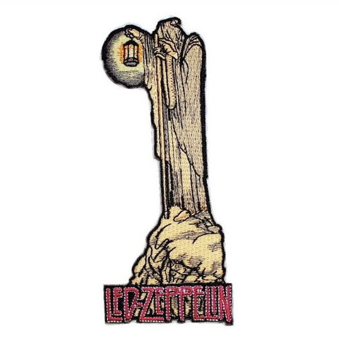 480x480 led zeppelin iv patch, lantern man hood patch, stairway