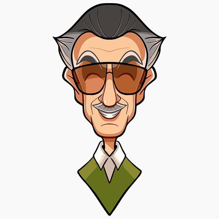 700x700 Stan Lee Caricature Full Sleeves T Shirt India