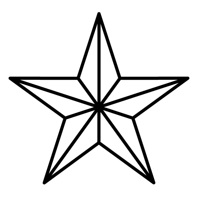660x660 Nautical Star Outline