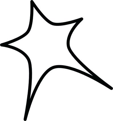 397x425 Shooting Star Line Drawing At Free For Personal Black Outline