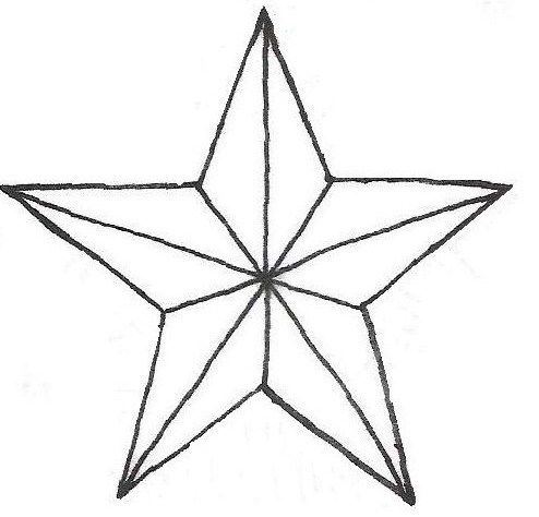 494x474 Star Outline Star Tattoo Outlines Clip Art