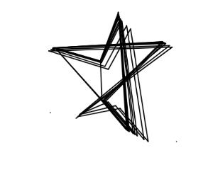 300x250 Black Outline Of A Star