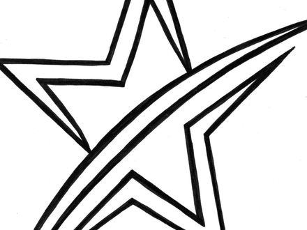 440x330 shooting star line drawing clipart best, shooting star coloring