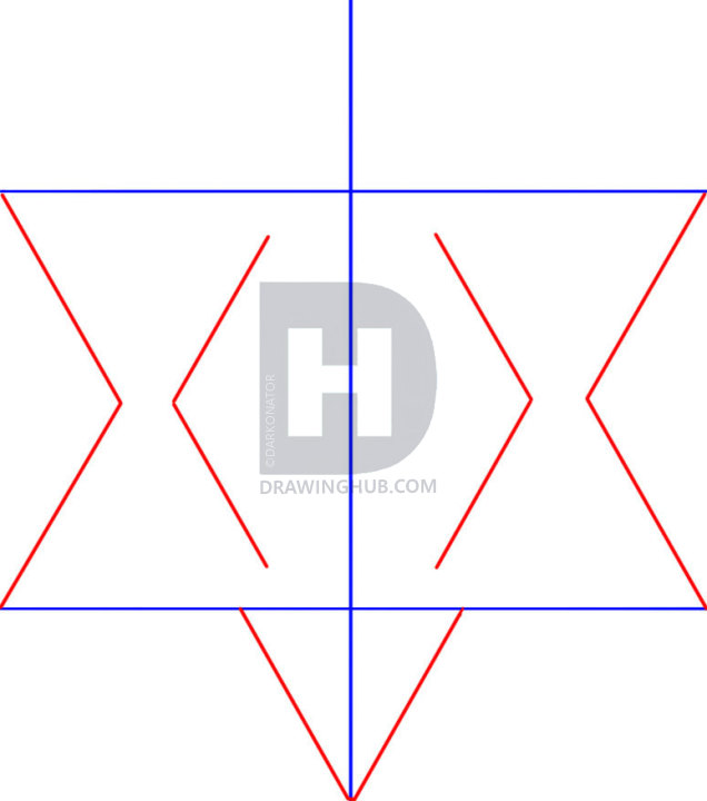 636x720 How To Draw The Star Of David, Star Of Bethlehem, Step