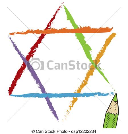 450x470 star of david sketch doodle style star of david jewish religious