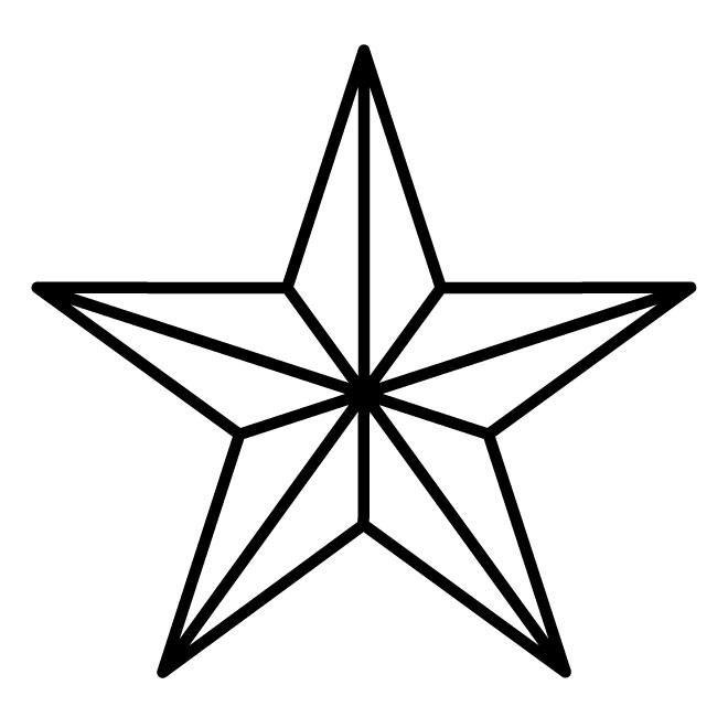 660x660 Nautical Star Outline