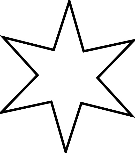 522x593 Outline Star Clip Art Free Vector In Open Office Drawing
