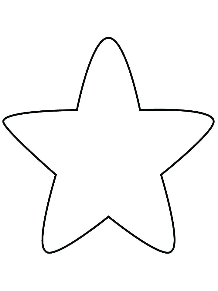 718x957 Printable Inch Star Template Small Outline Coloring Tiny Pattern