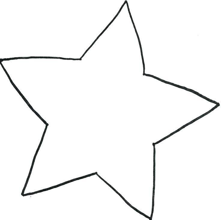 736x734 Printable Star Templates Of Stars Free Large Christmas Template