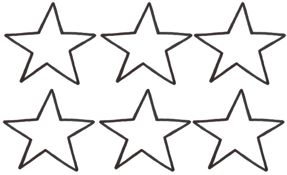 930x567 Small Star Outline Clipart
