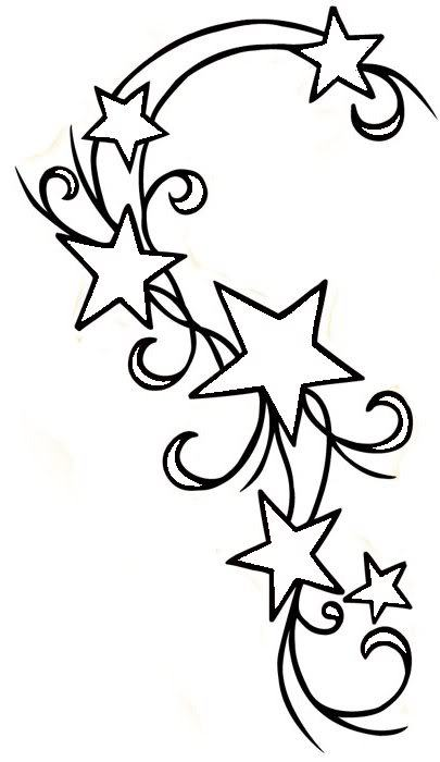 405x700 Star Tattoos Drawing Basic Ideas And Designs