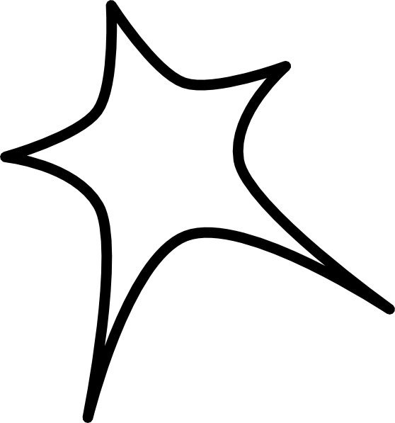 558x597 Star Sign Outline Clip Art Free Vector In Open Office Drawing