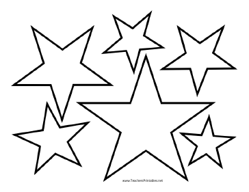 364x281 Star Outline Images Of Star Printable Stars Clip Art