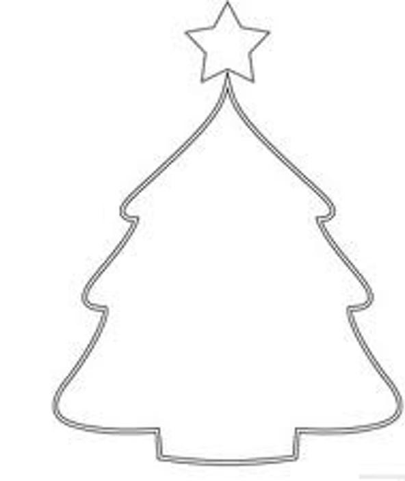 592x703 Christmas Tree Drawing Outline