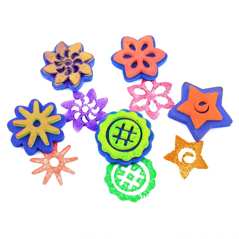 800x800 pcs flowerstar eva sponge pattern decoration seal drawing