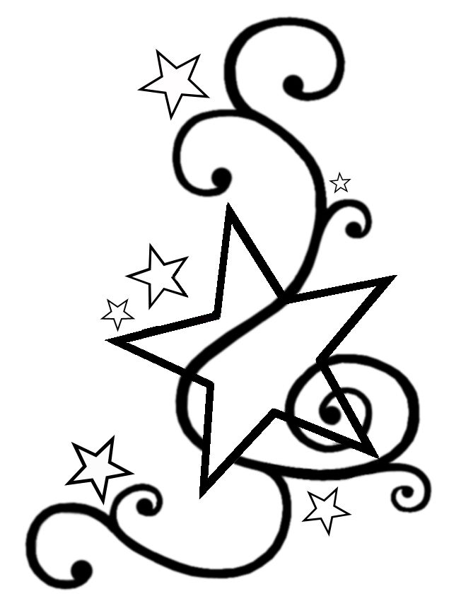 652x850 stars with swirls tattoo tattoo star tattoo designs, tattoo