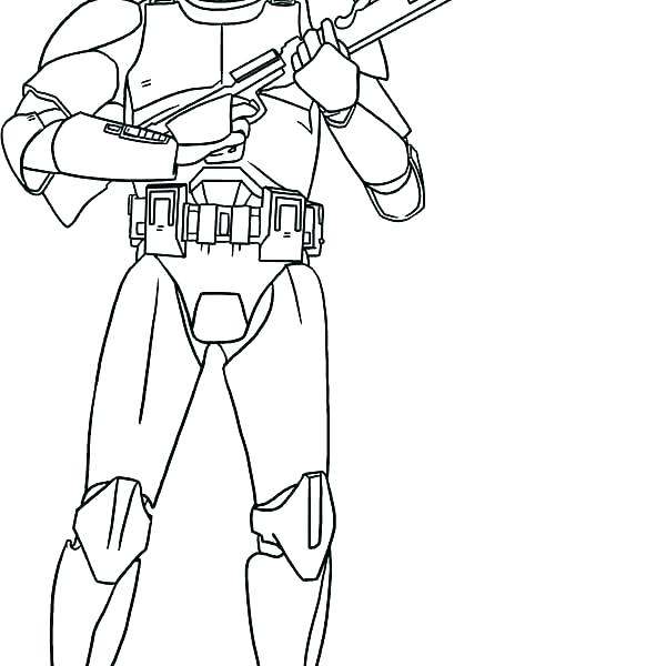 600x600 Commander Cody Coloring Pages Clone Troopers Drawing At Com Free
