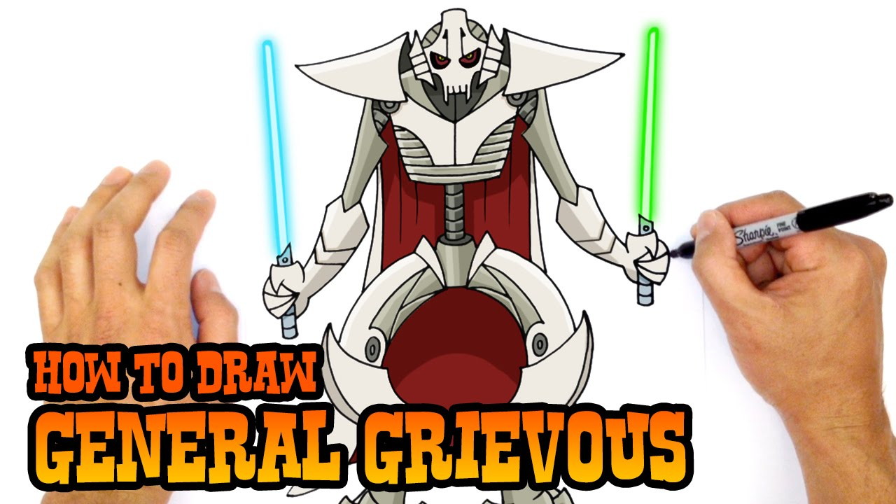 1280x720 How To Draw Star Wars General Grievous