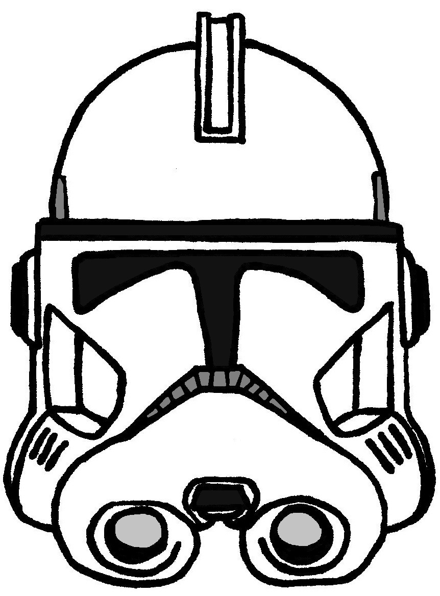 862x1168 Star Wars Clone Trooper Coloring Pages With Helmet Arc W