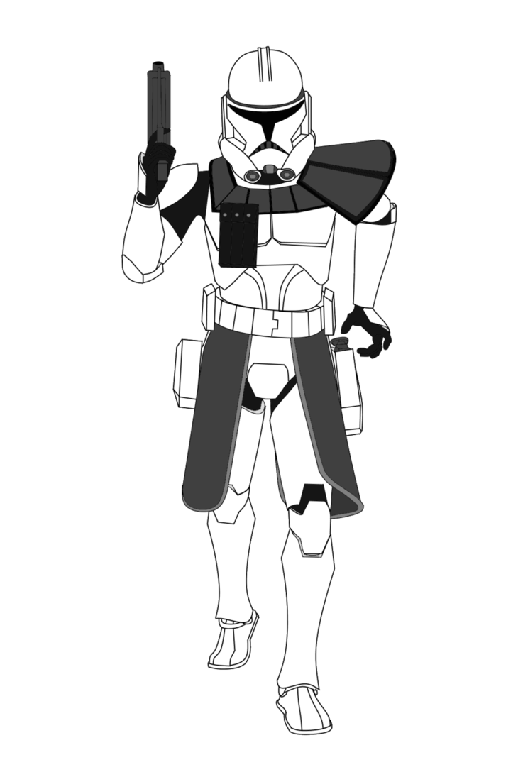 star wars clone trooper drawing  free download on clipartmag