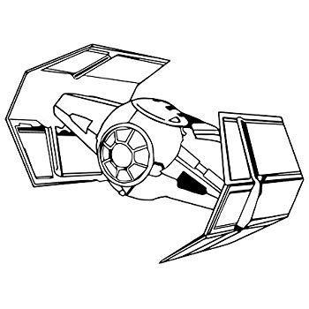 350x350 Darth Vader Tie Fighter Vinyl Sticker Car Decal