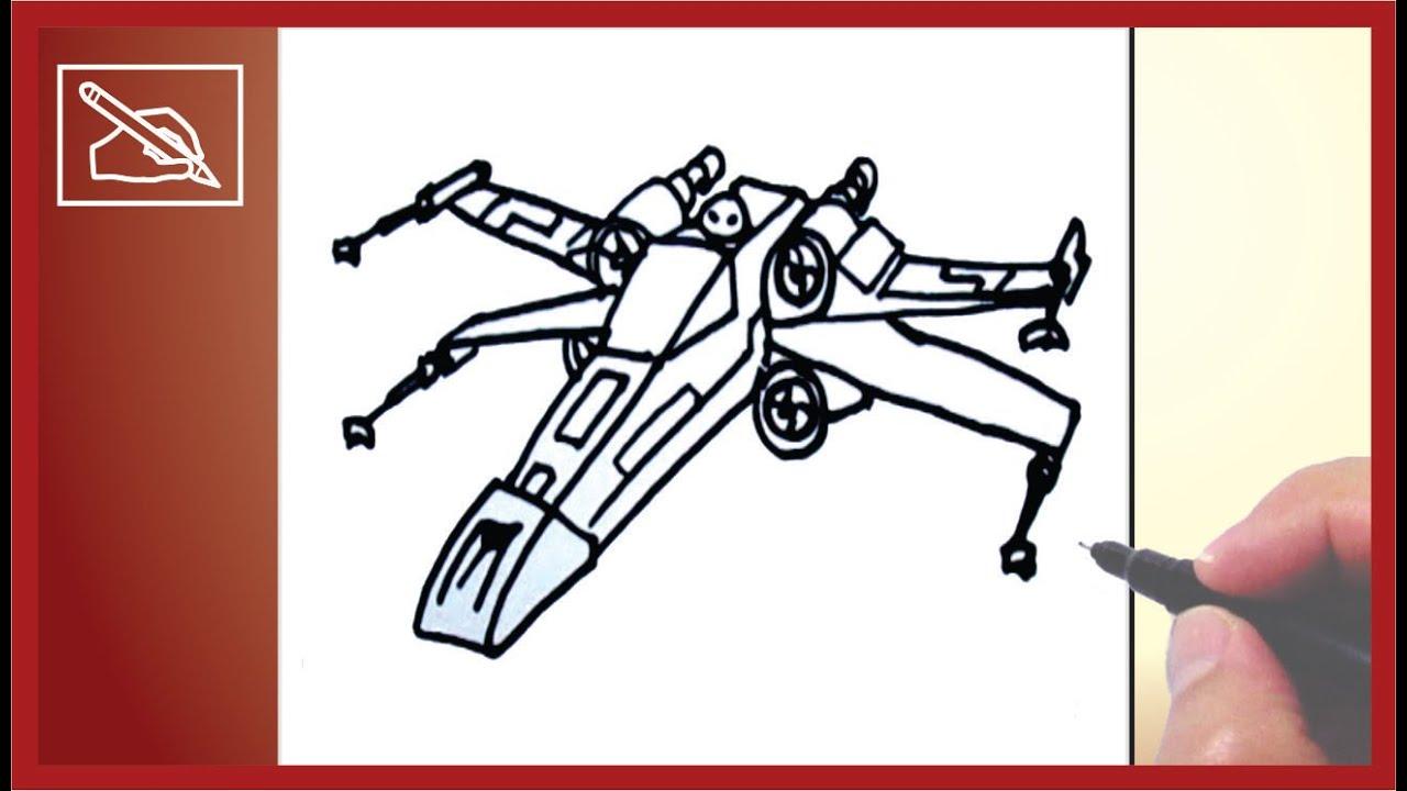 1280x720 Dibujar Una Nave De Star Wars