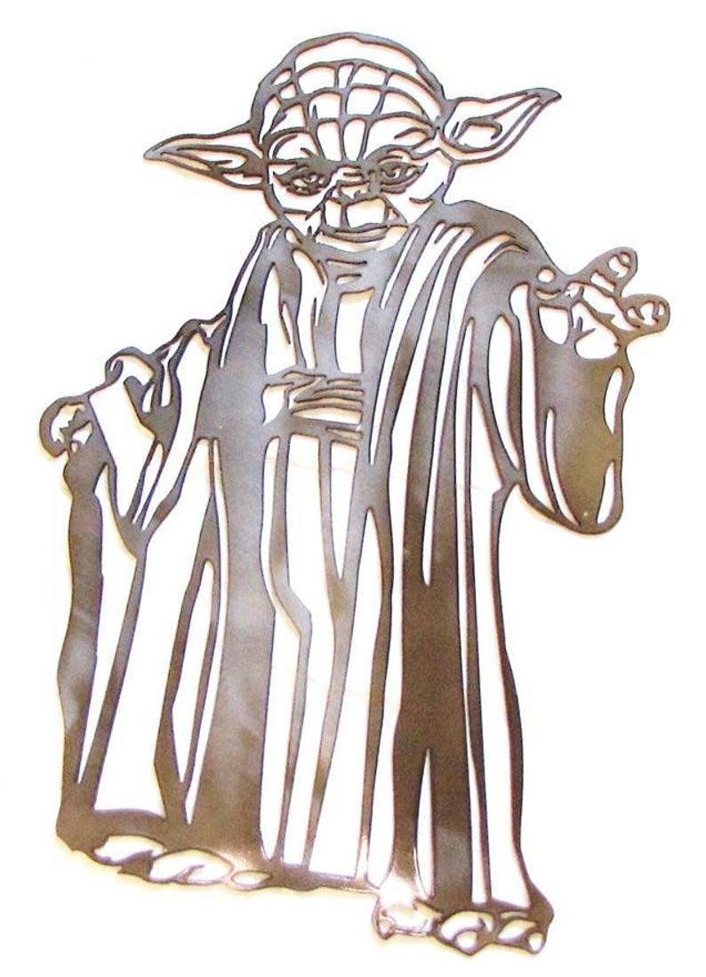 794x1099 metal star wars yoda star wars character star wars yoda jedi etsy
