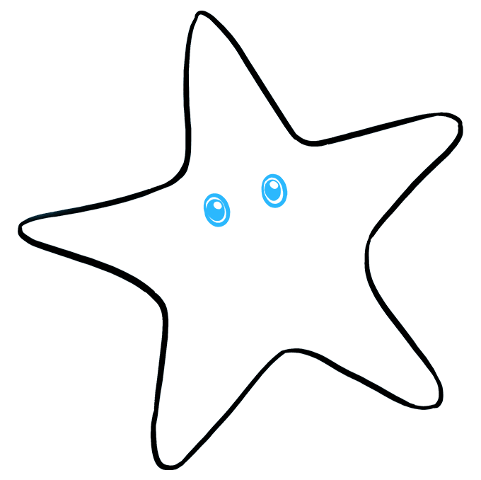 680x678 How To Draw A Cute Starfish