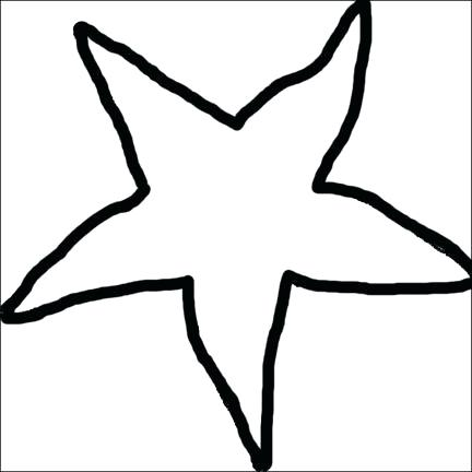 432x432 Starfish Drawing Template At Free For Personal Use Fish Stencil