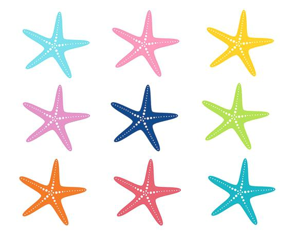 570x456 Starfish Drawing Template At Free For Personal Use Printable