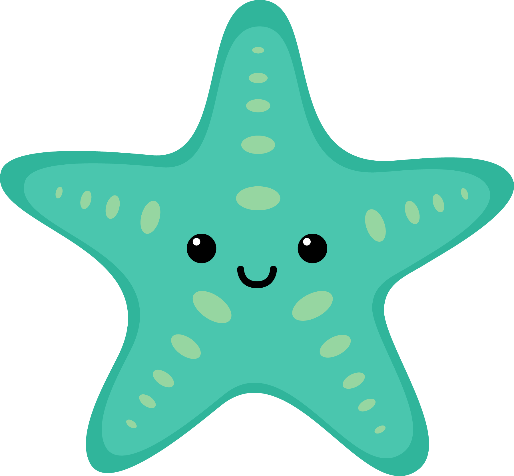 1800x1668 Sea Star Clipart Turquoise