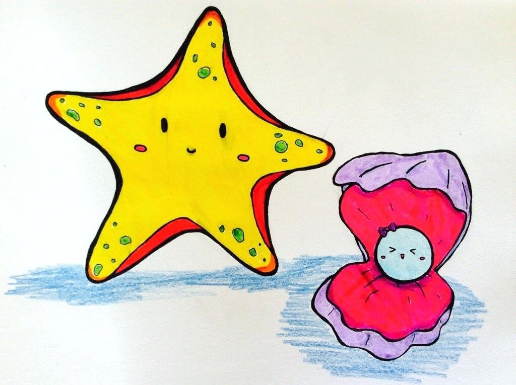 1024x765 how to draw starfish draw a starfish draw so cute starfish