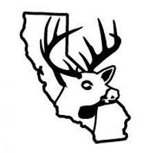 225x221 California State Deer Decal