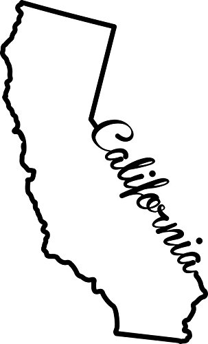 303x500 California State Decal Sticker Inches