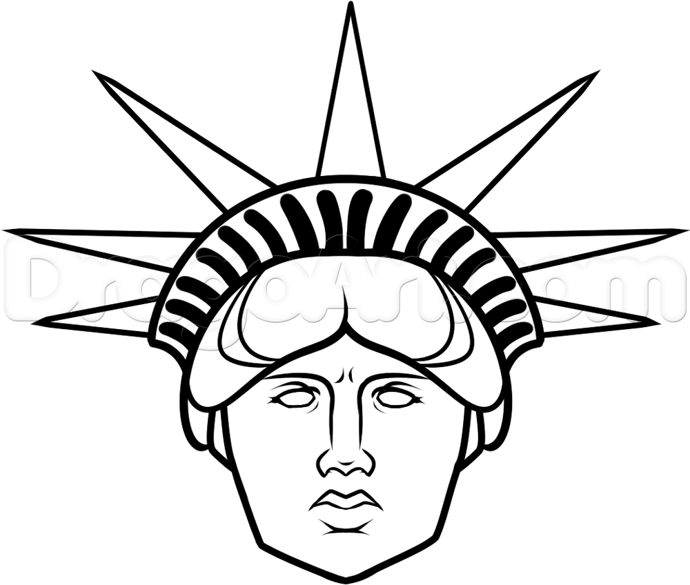 Statue Of Liberty Drawing Template
