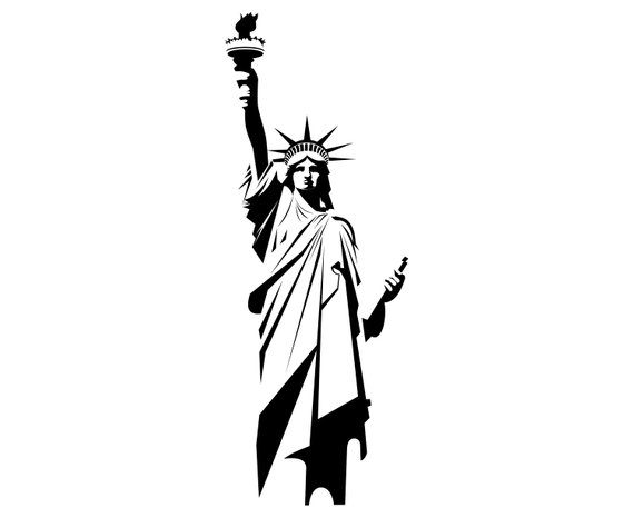 It's just an image of Printable Statue of Liberty Template throughout coloring book
