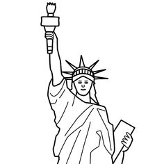 Statue Of Liberty Face Drawing