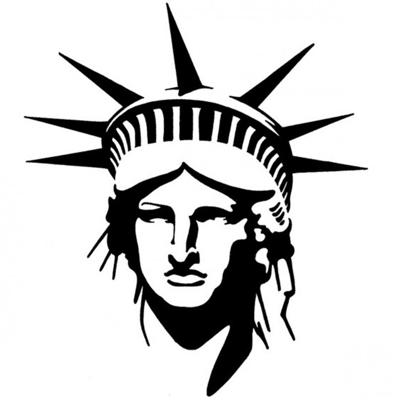 Statue Of Liberty Line Drawing | Free download on ClipArtMag
