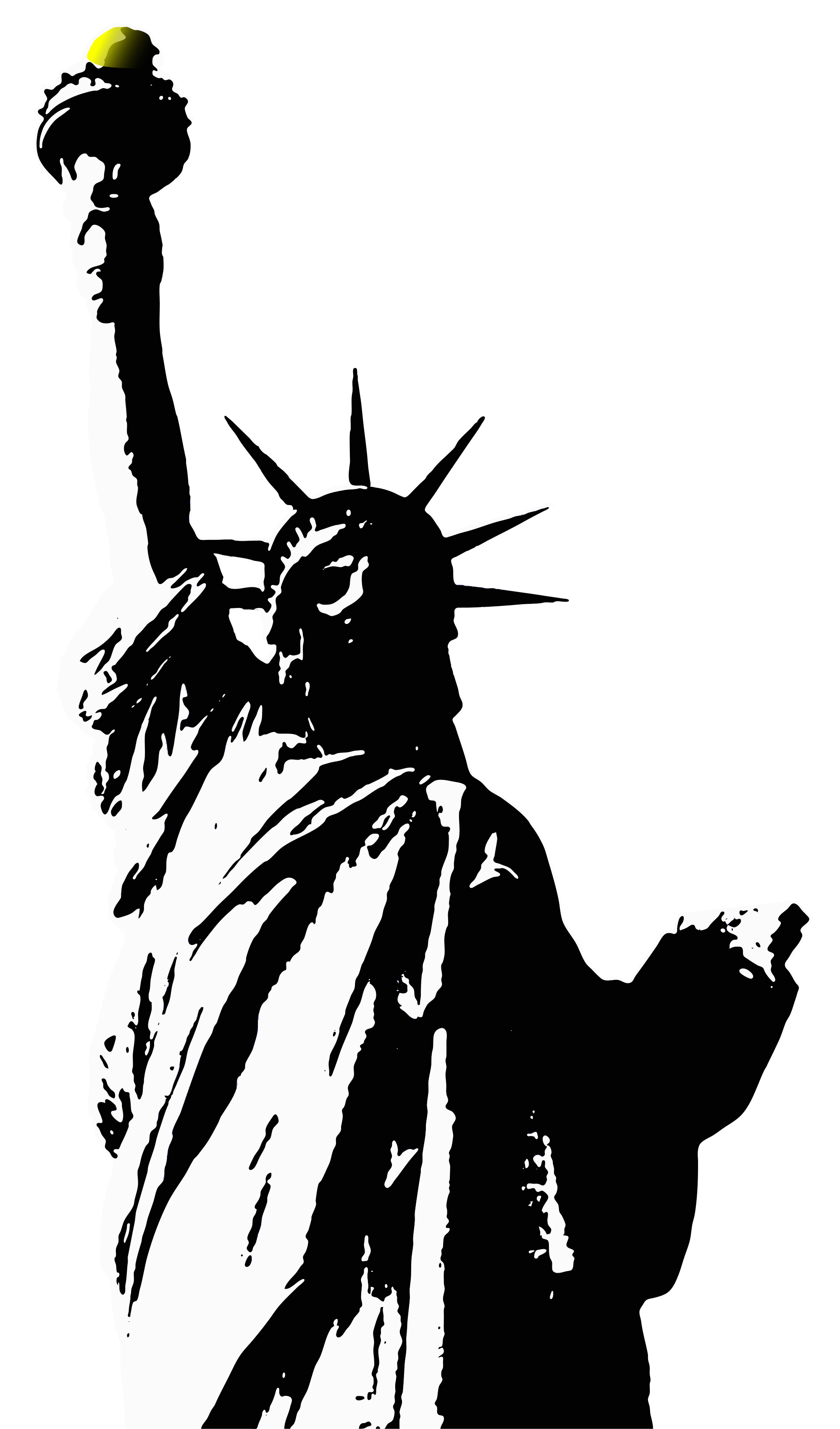 Statue Of Liberty Torch Drawing