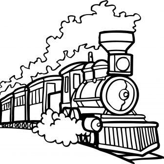 Steam Train Drawing