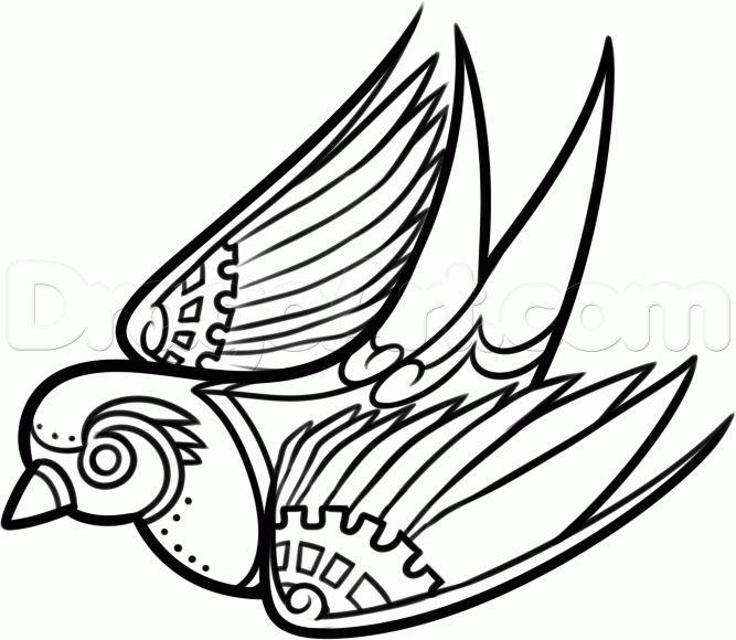 667x580 tattoo ideas steampunk bird, steampunk drawing