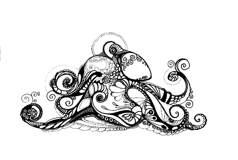 900x606 Octopus Drawing Steampunk For Free Download