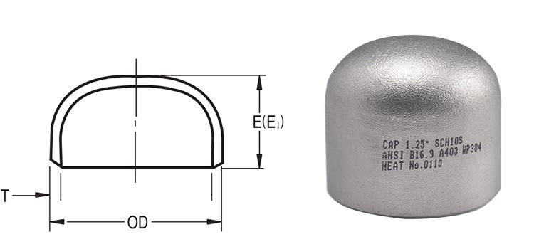 750x350 Stainless Steel Pipe End Caps
