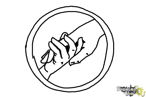 600x400 How To Draw Abnegation, The Selfless Logo From Divergent