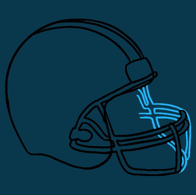 680x678 How To Draw A Football Helmet