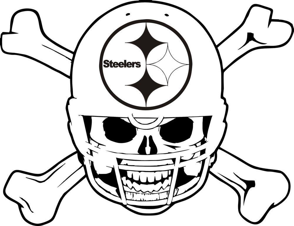 1000x768 Pittsburgh Steelers Skull Art